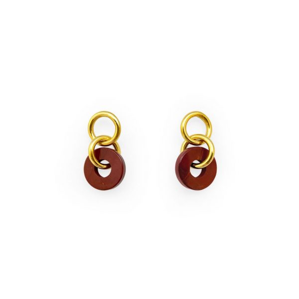 LOOP JASPER GOLDEN EARRINGS