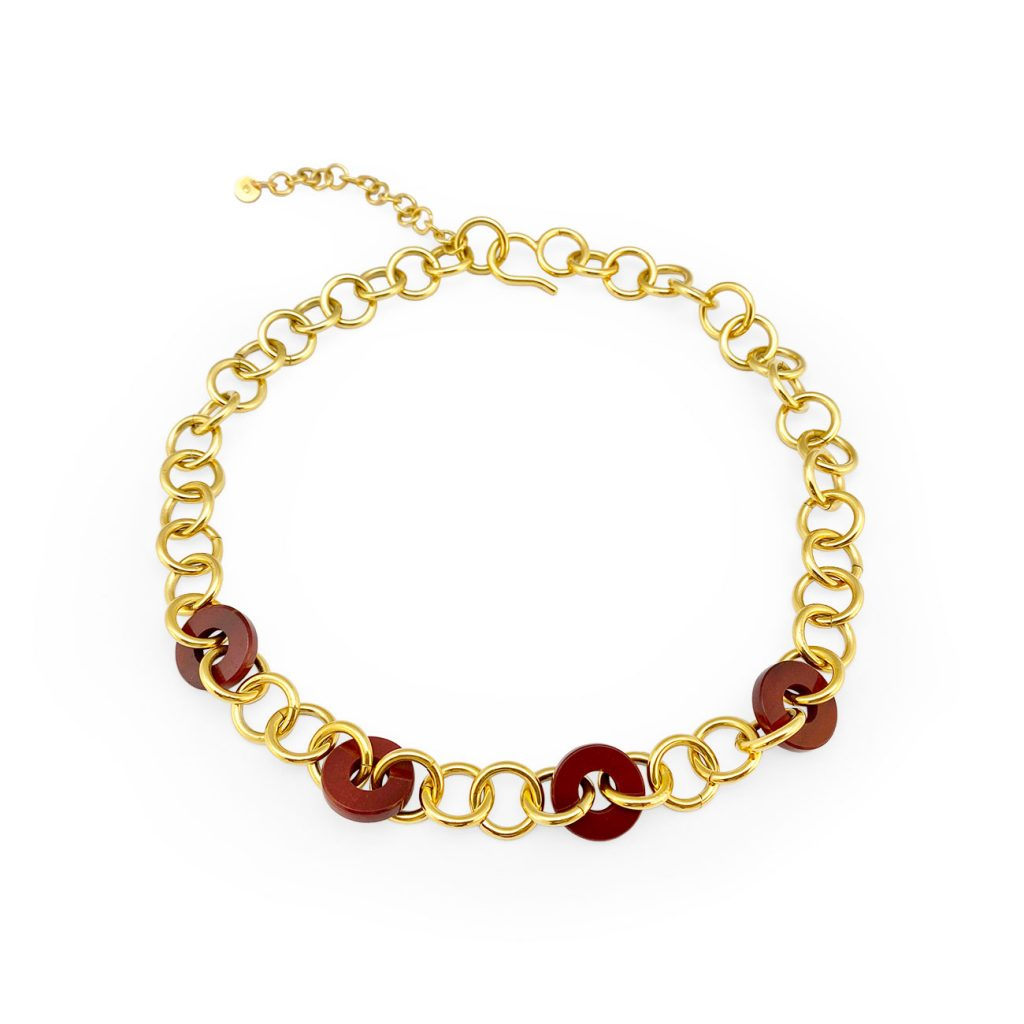 LOOP JASPER GOLDEN NECKLACE