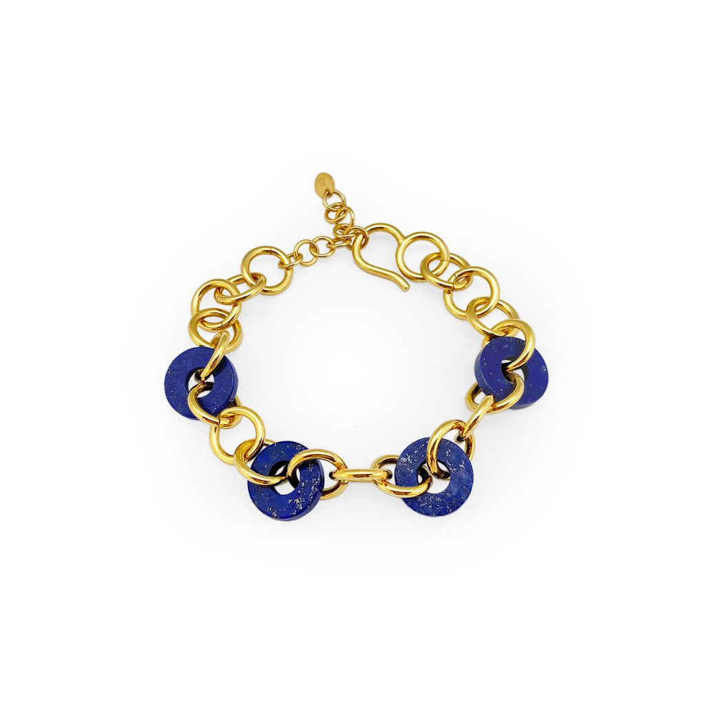 LOOP LAPIS GOLDEN BRACELET