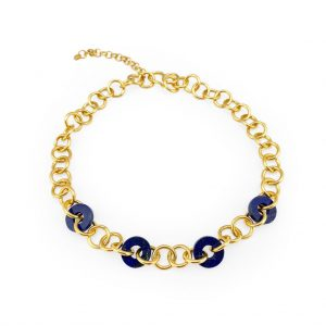 LOOP LAPIS GOLDEN NECKLACE
