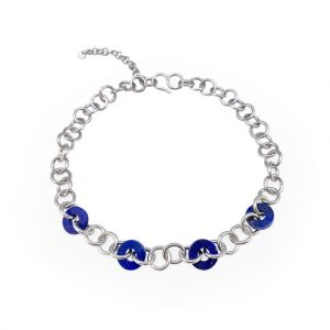 LOOP LAPIS SILVER NECKLACE