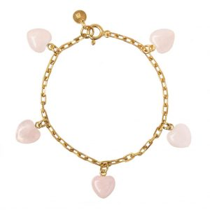 GUILTY PLEASURES GOLD FIVE HEART BRACELET