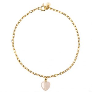 GUILTY PLEASURES GOLD HEART ANKLE BRACELET