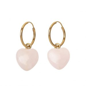 GUILTY PLEASURES GOLD HEART EARRINGS