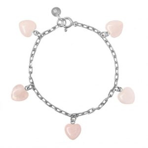 GUILTY PLEASURES SILVER FIVE HEART BRACELET