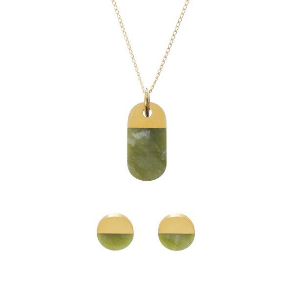 metaformi_design_jewelry_split_oval_necklace_round_earrings_jade_set