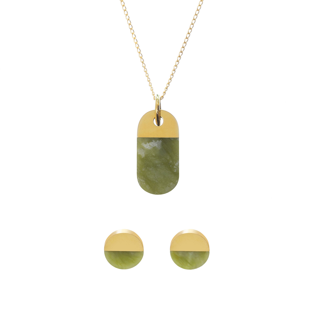 metaformi_design_jewelry_split_oval_necklace_round_earrings_jade_set