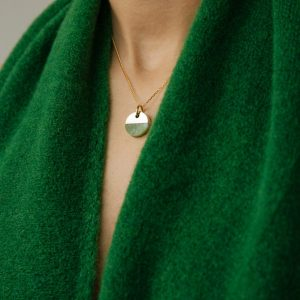SPLIT ROUND NECKLACE JADE