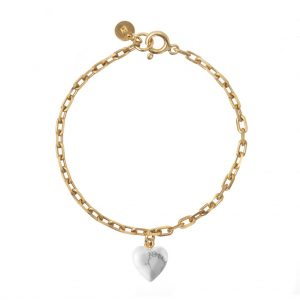 GUILTY PLEASURES HOWLITE HEART BRACELET